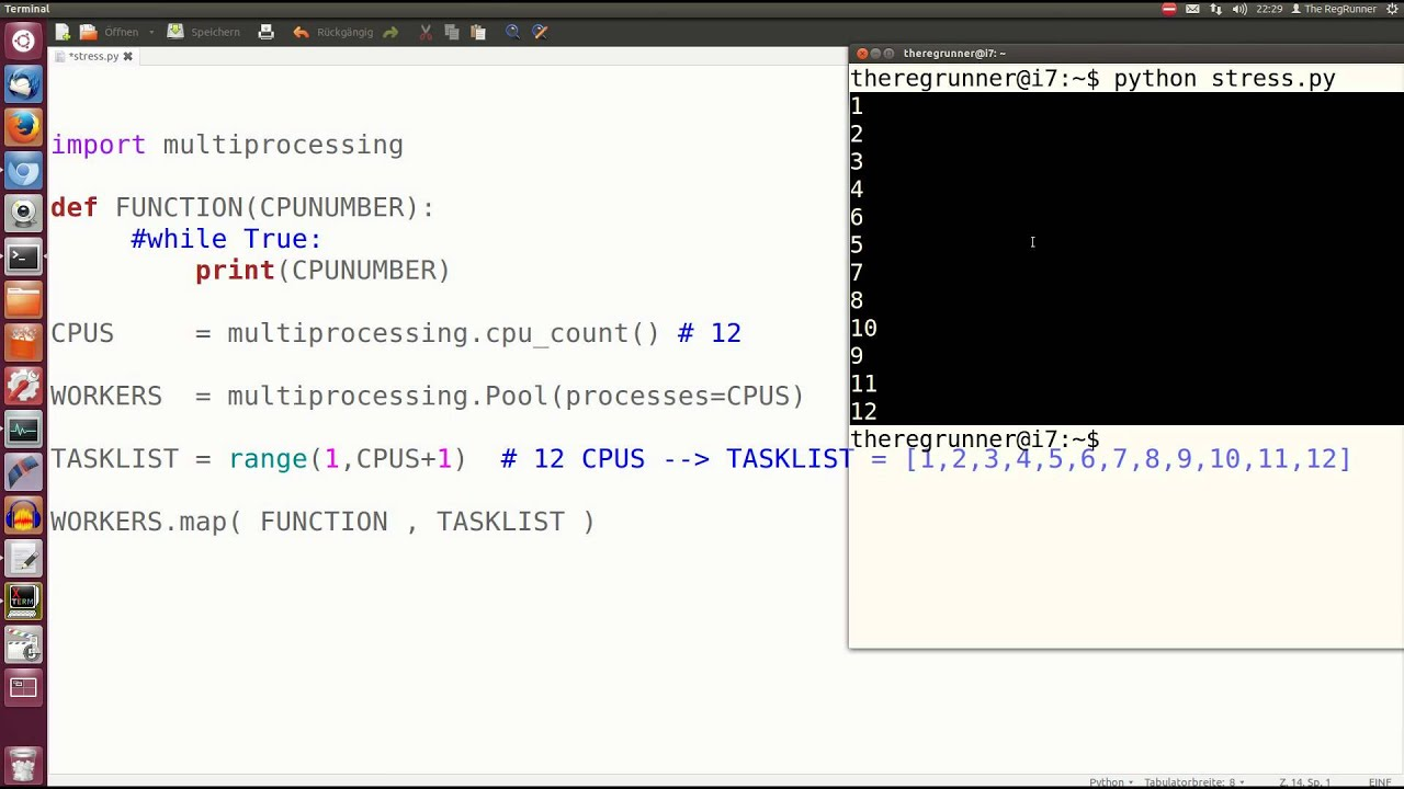 Python : Alle CPU's ausnutzen mit