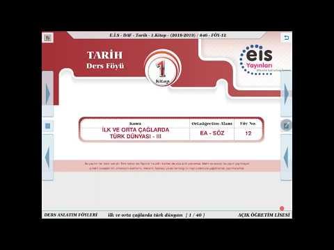 Tarih 1  - İlk Ve Orta Çağlarda Türk Dünyası 3 🏹