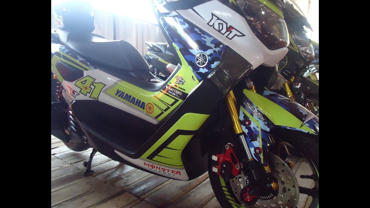 Modif yamaha nmax custom cutting sticker decals modifikasi motor