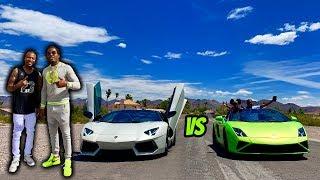 RACING MY LAMBORGHINI AVENTADOR VS MY LAMBORGHINI GALLARDO!!!