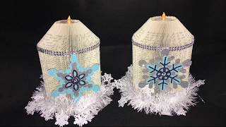 HOW TO MAKE: BOOK FOLDING CANDLE - Christmas Crafts