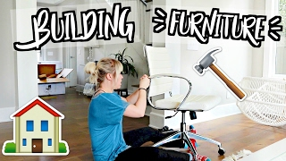 BUILDING NEW FURNITURE!! MOVING VLOGS!!