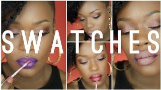 @ColourPOPco (Lippie Stix) Swatches / combos for Dark skin