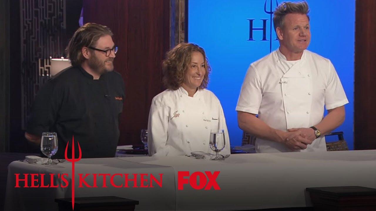 Suzanne tracht david lefevre guest judge season 15 ep for Hell s kitchen season 15 episode 1