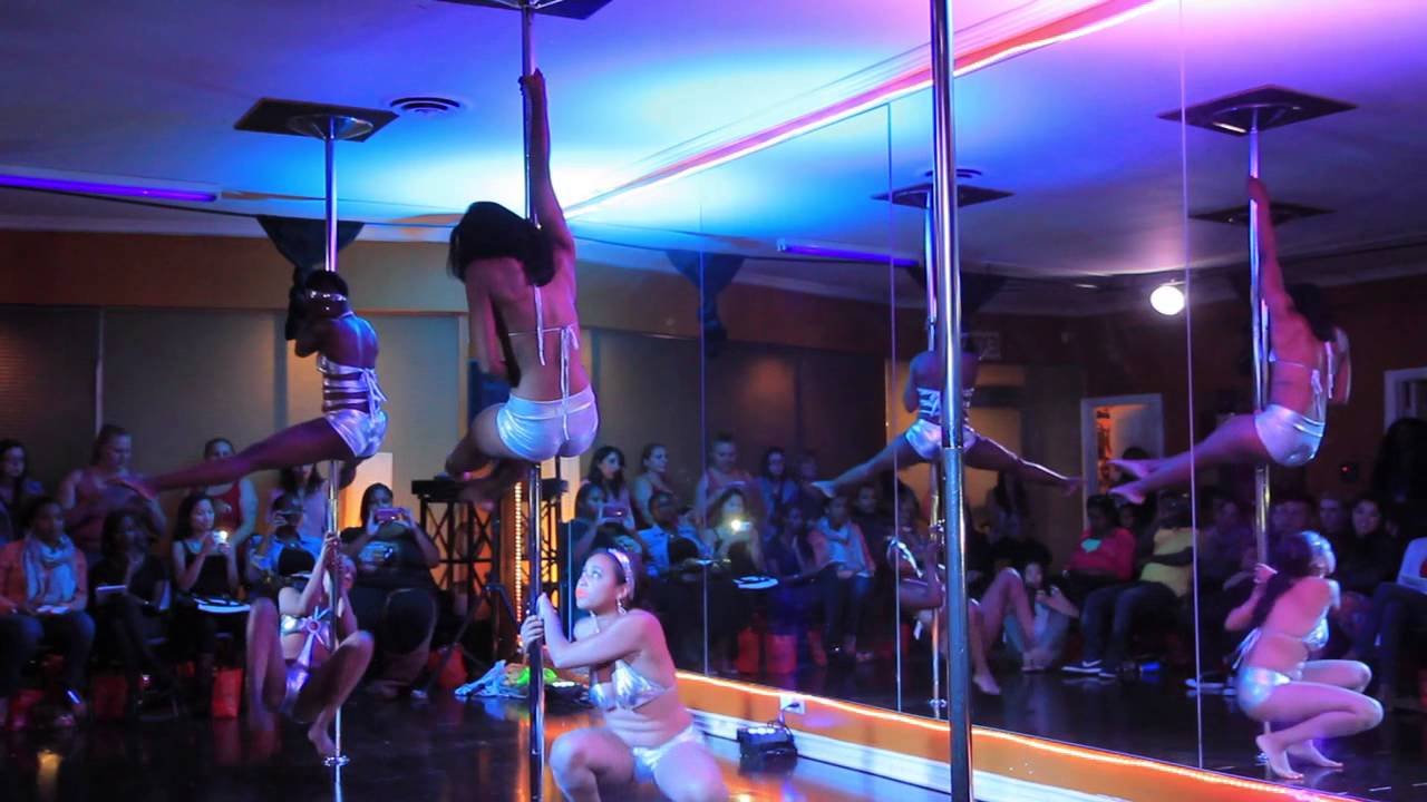 October Showcase Group Routine Exotic Pole Tricks Scene
