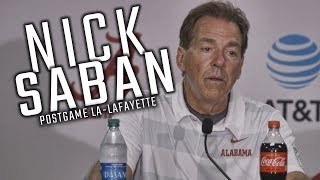 What Nick Saban had to say during postgame press conference after win over Lafayette