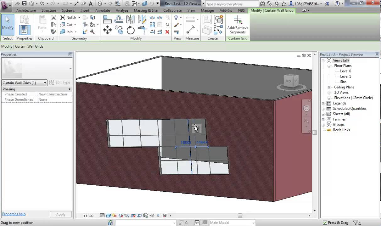 revit 3 2 embedding curtain walls