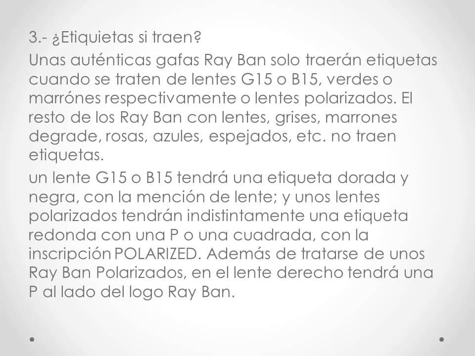 reconocer gafas ray ban wayfarer originales