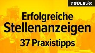 Erfolgsgeheimnisse erfolgreicher Stellenanzeigen - 37 Praxistipps