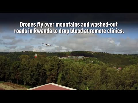 Delivery drones outfitted to make blood supply deliveries in Africa