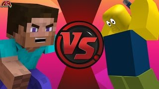 MINECRAFT STEVE gegen ROBLOX ROBLOXIAN! Rückkampf! Cartoon Fight Club Episode 135