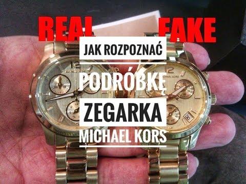 fb2563bf546 Jak rozpoznać podróbkę zegarka Michael Kors / How to spot fake Michael Kors  watch