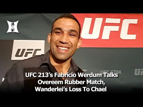 UFC 213's Fabricio Werdum Talks Overeem Rubber Match, Wanderlei's Loss To Chael