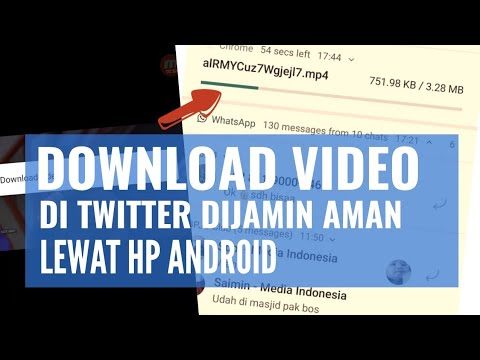 Cara Download Video Twitter Lewat Browser Android