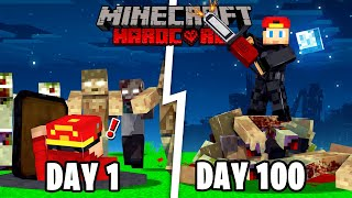 I Spent 100 Days in a Zombie Apocalypse in Hardcore Minecraft... Here's What Happened