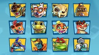 Crash Team Racing Nitro-Fueled - All Victory & Losing Animations (Back N. Time Grand Prix)