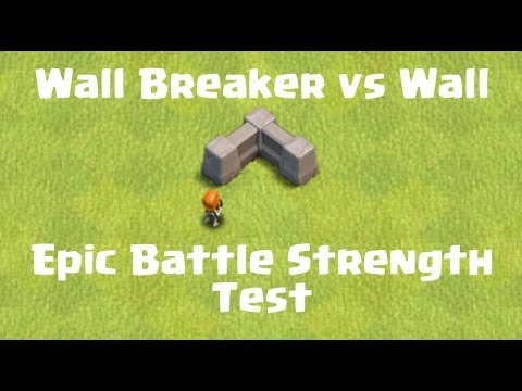 Every Level Wall Breaker Vs Every Wall | Clash Of Clans