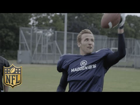 Tottenham Soccer Star Harry Kane Shows Off His American Football Skills | Madden 16 | NFL