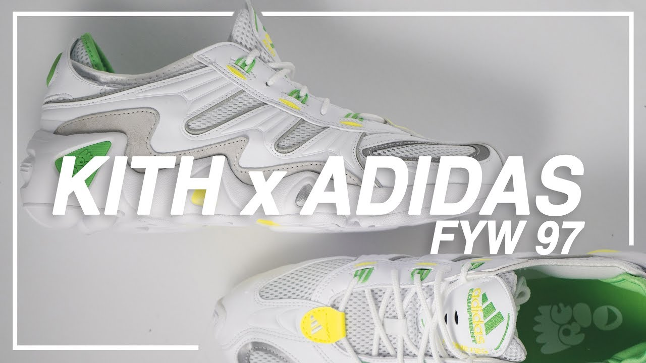 quality design 5b07e 2ca36 KITH x Adidas FYW 97 - Unboxing Review On-Feet Look