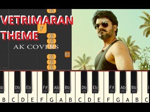 Mersal Vetri Maran Theme \ How To Play Vetrimaran Theme In Piano \ Short Version