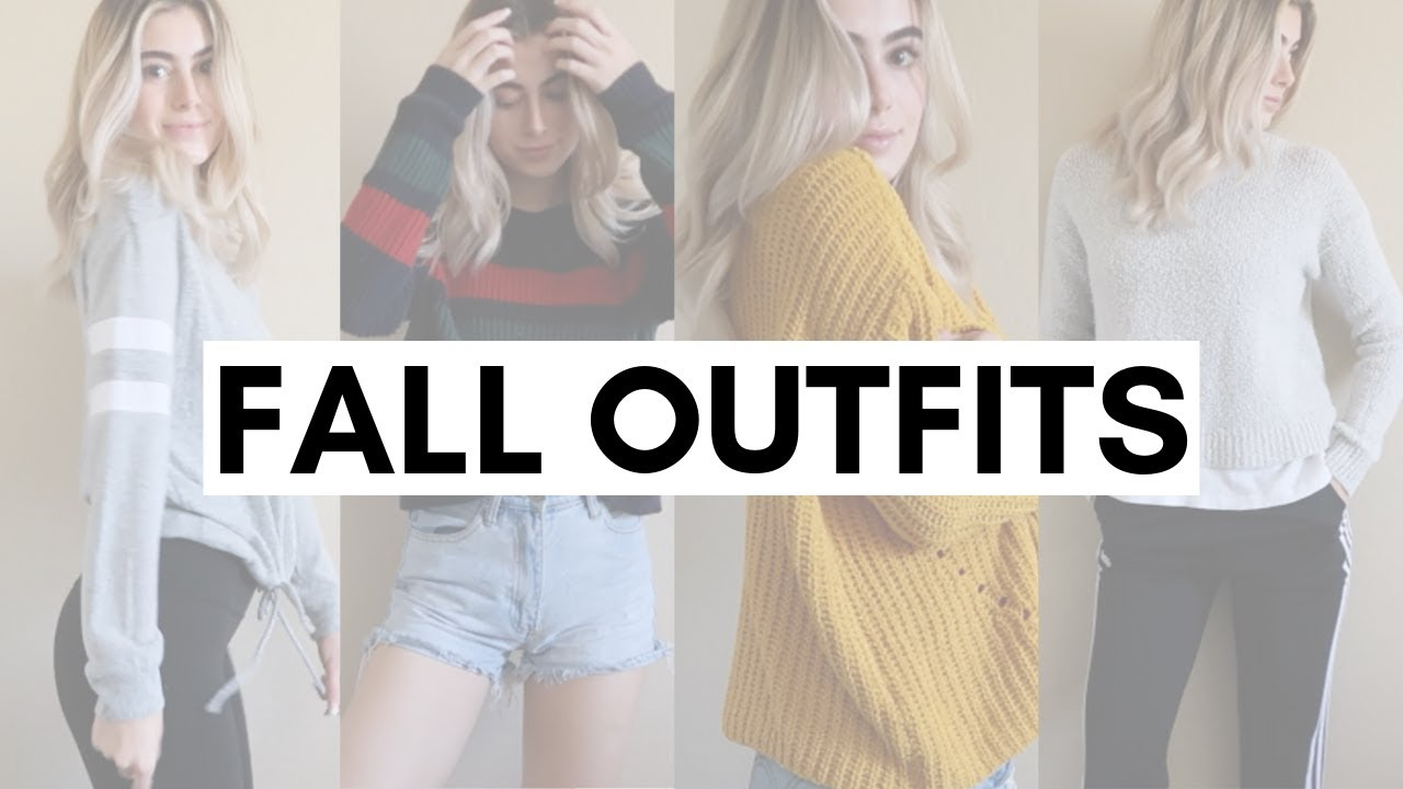 [VIDEO] - 5 FALL OUTFIT IDEAS! FALL LOOKBOOK 2019 2