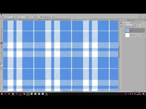 How To Make Twill Plaid Pattern Texture In Photoshop