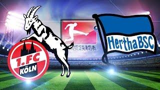 1. FC KÖLN vs HERTHA BSC BERLIN Bundesliga 18.03.2017 4:2