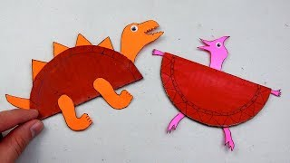 How to Make Cardboard Animal Dinosaur #64 - Crafts for Kids