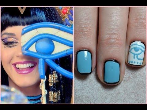 Katy Perry - Dark Horse Nail Art #1 - YouTube