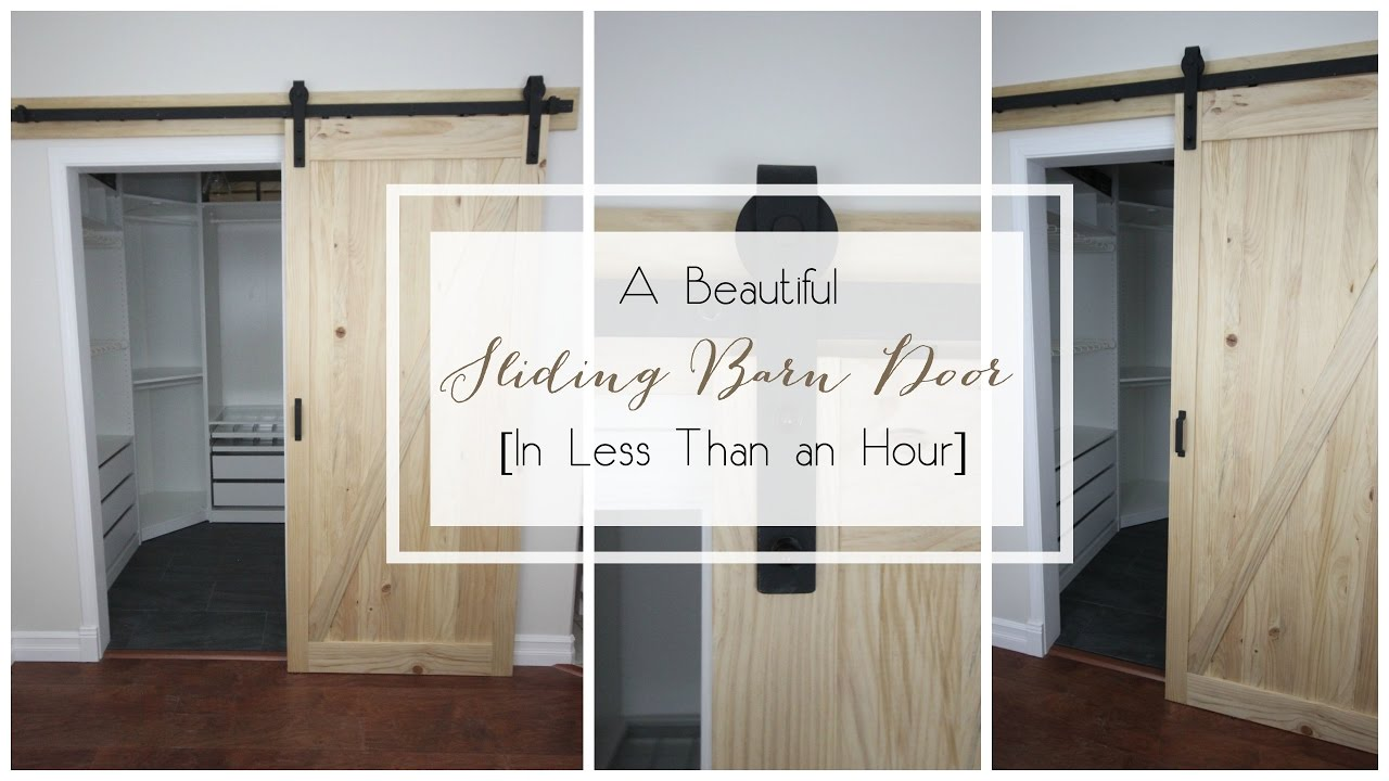 How To Install A Barn Door With Our Beautiful New Sliding