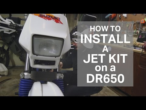 How to Install a Jet Kit on a Suzuki DR650 [BUY-BUILD-RIDE]