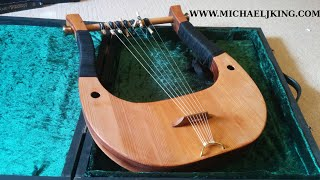 Greek Hypolydian Mode tuning on a 7 String Lyre by Michael J King