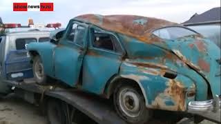 Первое в мире ДТП ГАЗ М-20 ''Победа'' с фурой ''Skania''