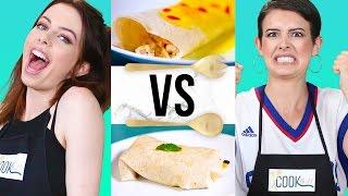 BURRITO CHALLENGE?! | COOK THAT w/ Lisa & Dani Cimorelli