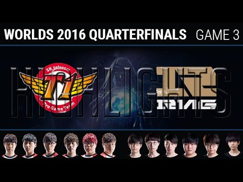 SKT vs RNG Game 3 Highlights, S6 Worlds 2016 Quarter final, SK Telecom T1 vs Royal Never Give Up G3
