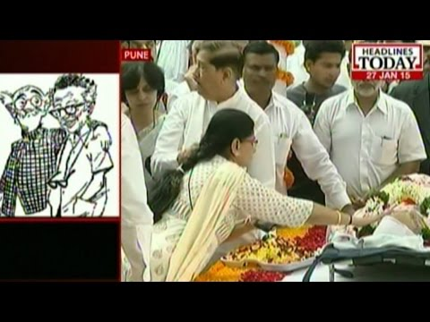 RK Laxman given a state funeral today