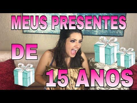 ABRINDO MEUS PRESENTES DE 15 ANOS parte 1 #15daMarangoni