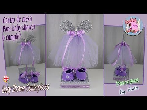 Decoracion De Mesa Para Baby Shower.Centro De Mesa Para Baby Shower O Cumpleanos Youtube