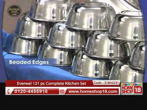 Homeshop18 Com Everwel 121 Pc Complete Kitchen Set With Free