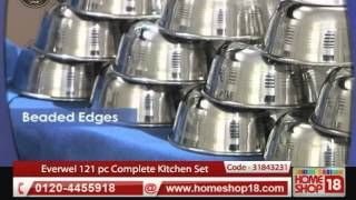 HomeShop18.com - Everwel 121 pc Complete Kitchen Set with Free Pressure Cooker-New