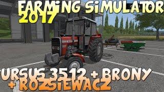 Ursus 3512/MF 255 / Brony / Rozsiewacz Sipma Farming Simulator 2017 Polski  Mod