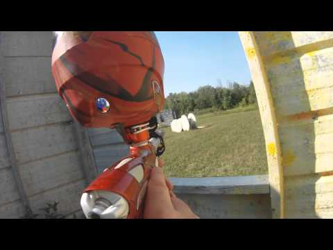 Assaulting and clearing the Village - Paintball DM12 footage - Futureball Ann Arbor Mi