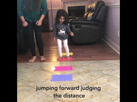 Jumping obstacle course