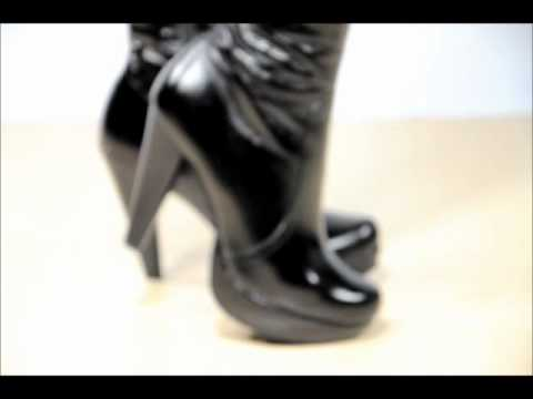 Женские сапоги на низком каблуке - фото - 2017 / Womens boots with low heels