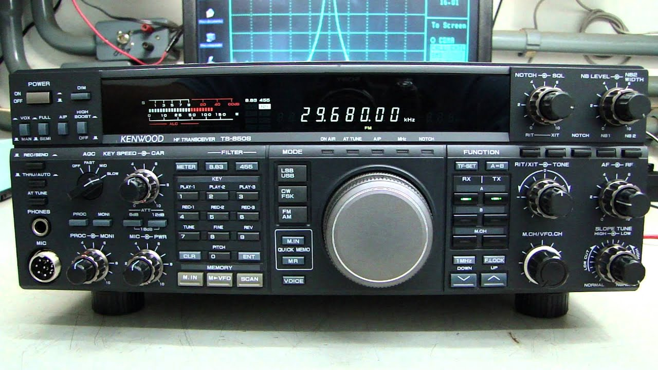 KENWOOD TS-850S/AT HF Transceiver RX TEST - Alpha Telecom