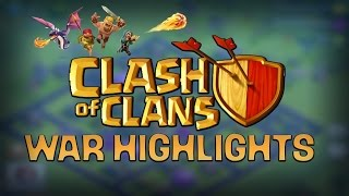 Clash Of Clans - WAR HIGHLIGHTS SICK Town Hall Level 9 Farming Base (TH9)
