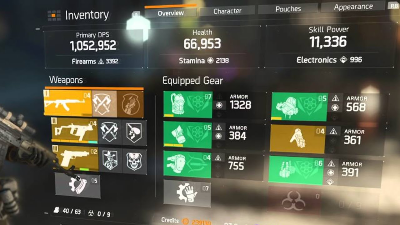 The Division   Gear Build
