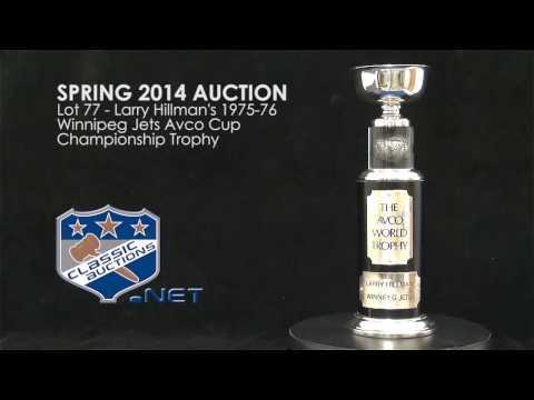 Larry Hillman's 1975-76 Winnipeg Jets Avco Cup Championship Trophy
