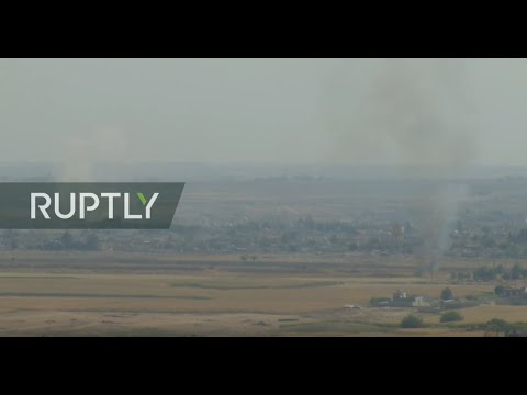 LIVE: Turkish-Syrian border: live images from Ras al-Ayn as Turkish military offensive continues