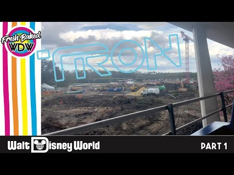 CONSTRUCTION UPDATE TRON Rollerocoaster at Magic Kingdom | Mickey Mouse Week part 3